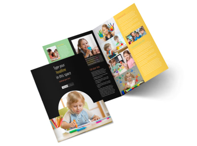 Child Care & Preschool Bi-Fold Brochure Template 2