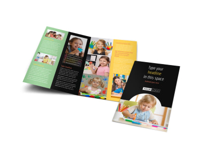 Child Care & Preschool Bi-Fold Brochure Template