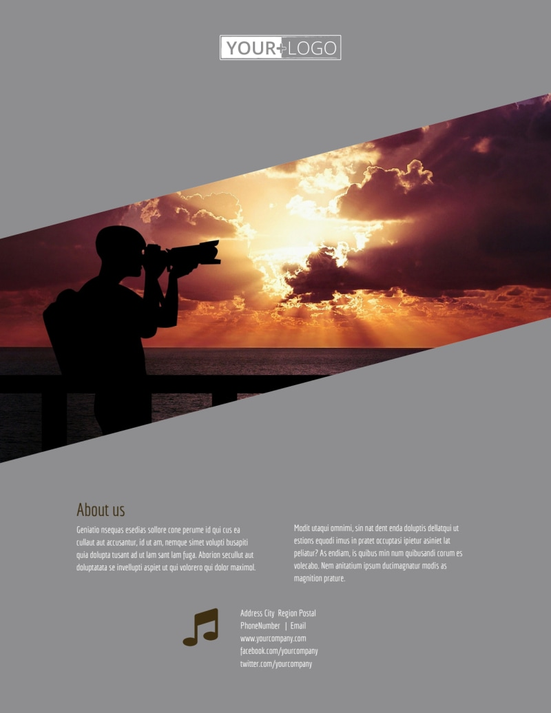 Professional Photographer Flyer Template Preview 3