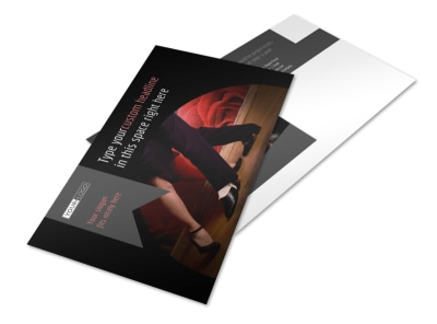 Dance Lessons Postcard Template preview