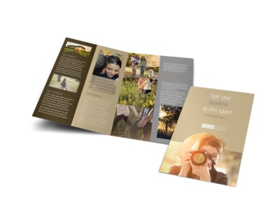 Photographer & Photography Studio Bi-Fold Brochure Template preview