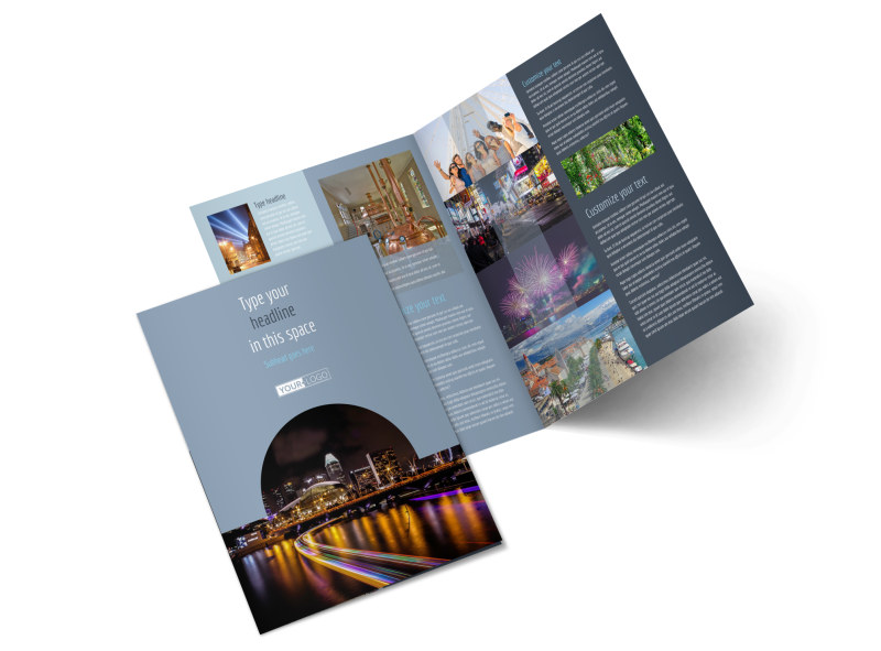 City Tour Bi-Fold Brochure Template 2