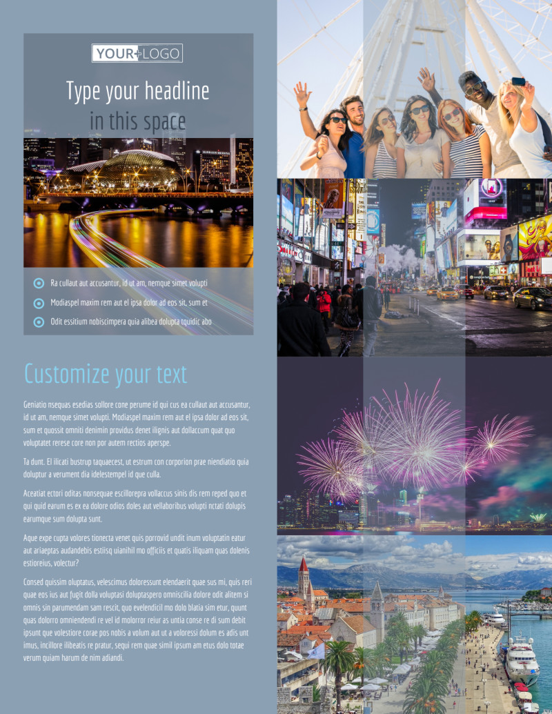 City Tour Flyer Template Preview 2