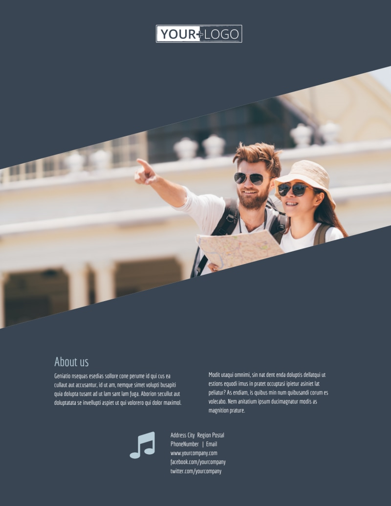 City Tour Flyer Template Preview 3