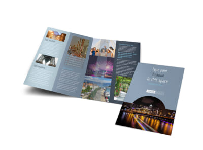 City Tour Bi-Fold Brochure Template
