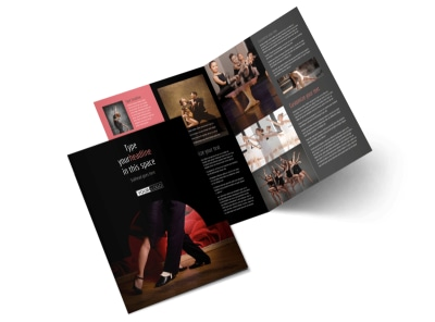 Dance Lessons Bi-Fold Brochure Template 2