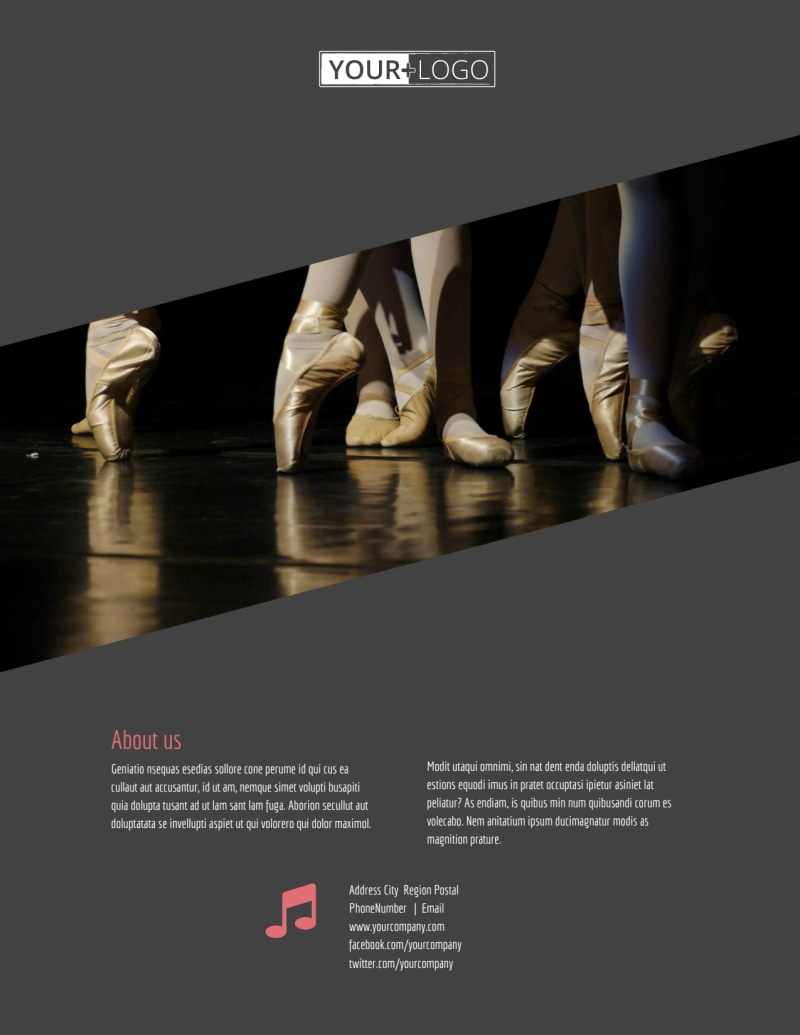 Dance Lessons Flyer Template Preview 3