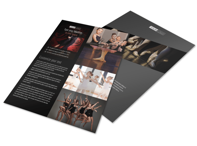 Dance Lessons Flyer Template Preview 1