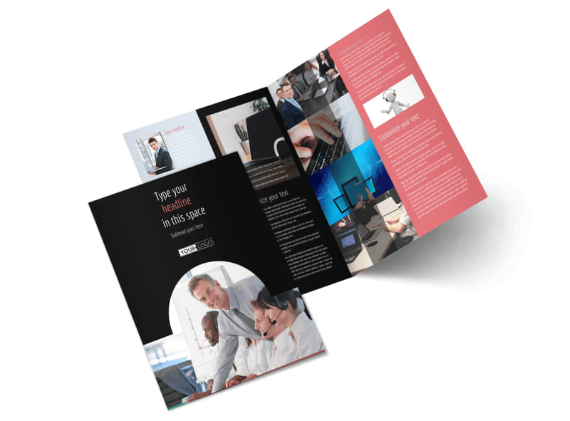 Call Centers Bi-Fold Brochure Template 2