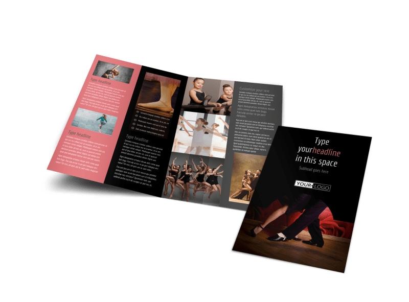 Dance Lessons Bi-Fold Brochure Template