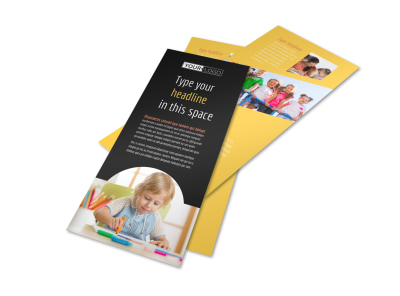 Child Care & Preschool Flyer Template 2