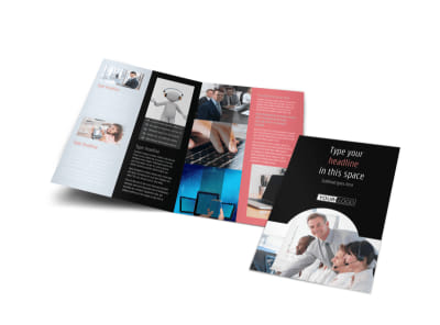 Call Centers Bi-Fold Brochure Template