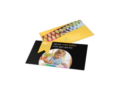 Child Care & Preschool Business Card Template