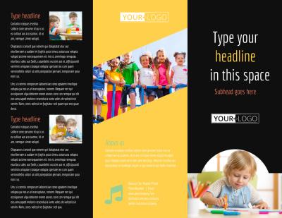 Preschool Services Brochure Template Preview 1