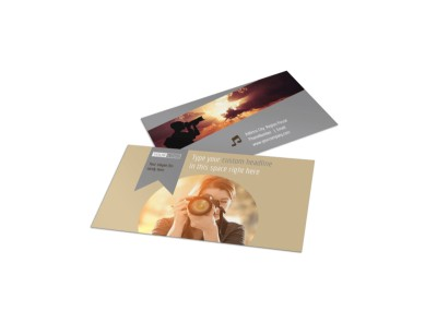 Photographer & Photography Studio Business Card Template preview