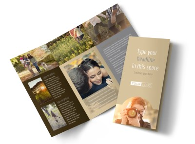Photographer & Photography Studio Tri-Fold Brochure Template preview