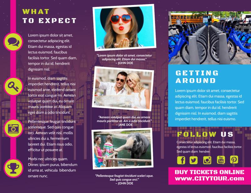 City Tour Brochure Template Preview 3