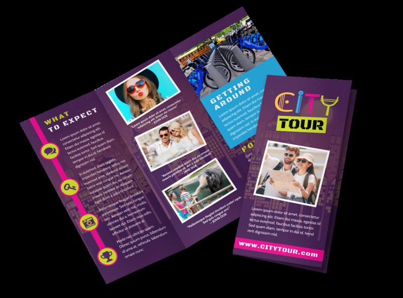 city tour brochure template