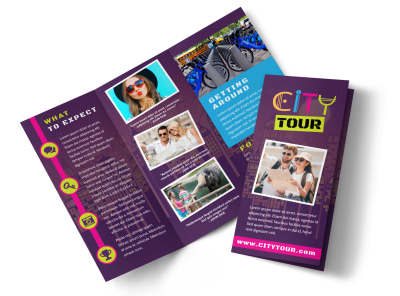 City Tour Tri-Fold Brochure Template