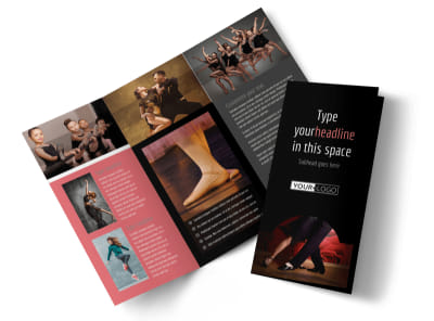 Dance Lessons Tri-Fold Brochure Template preview