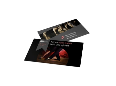 Dance Lessons Business Card Template