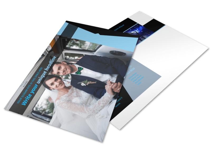 Limousine & Taxi Service Postcard Template