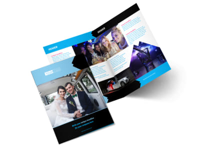 Limousine & Taxi Service Bi-Fold Brochure Template 2