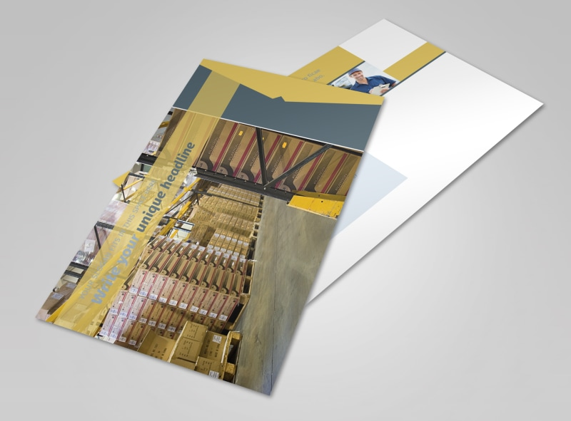 Logistics Company Postcard Template 2