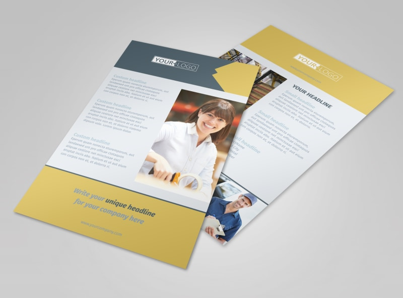 logistics company flyer template mycreativeshop