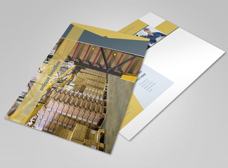 Logistics Company Postcard Template