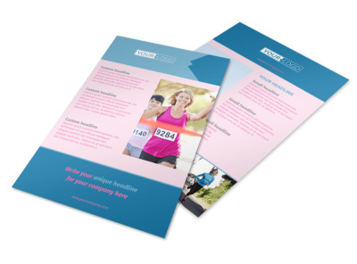 Healthy Running Club Flyer Template 3