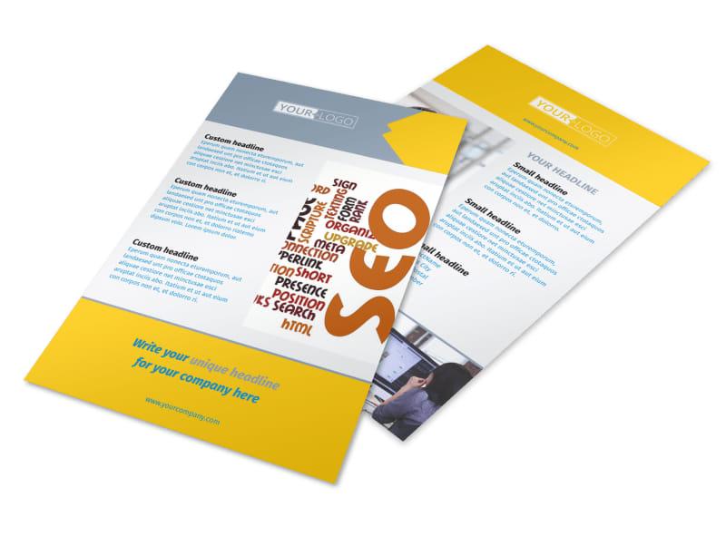 Speedy Web Hosting Flyer Template 3