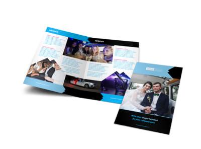 Limousine & Taxi Service Bi-Fold Brochure Template
