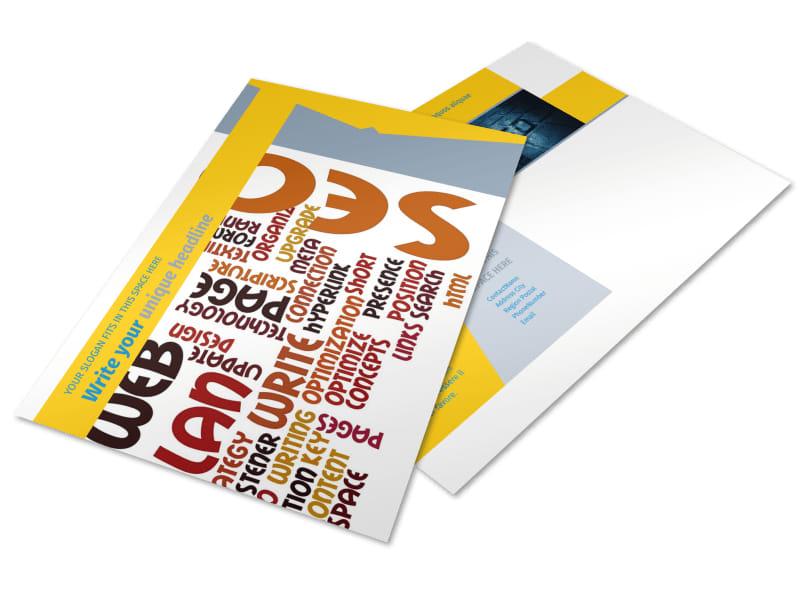 Speedy Web Hosting Postcard Template
