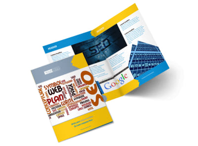 Speedy Web Hosting Bi-Fold Brochure Template 2