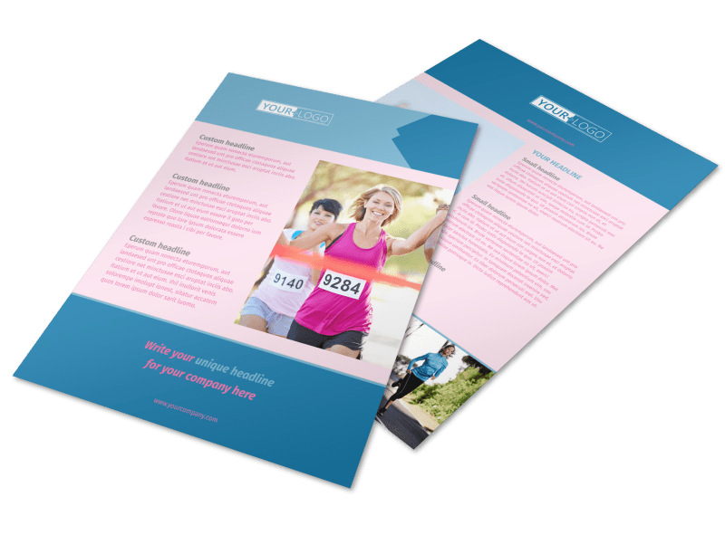 Healthy Running Club Flyer Template
