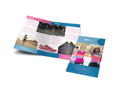 Healthy Running Club Bi-Fold Brochure Template preview