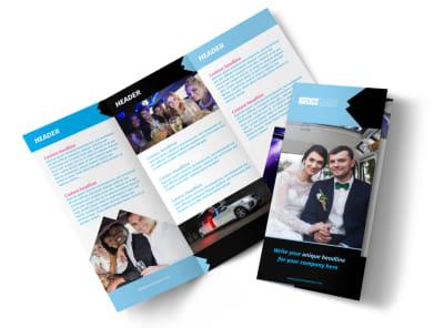 Limousine & Taxi Service Tri-Fold Brochure Template