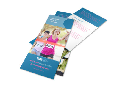 Healthy Running Club Flyer Template 2