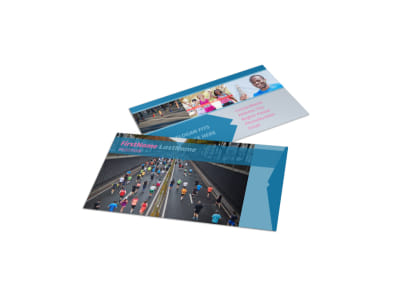 Healthy Running Club Business Card Template preview
