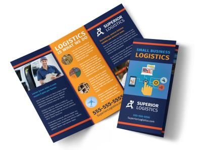 Logistics Company Tri-Fold Brochure Template