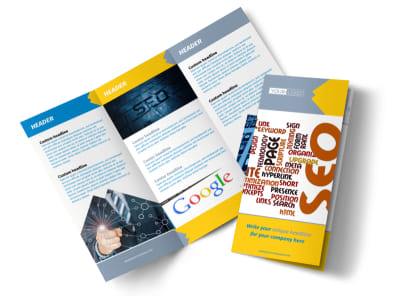 Speedy Web Hosting Tri-Fold Brochure Template