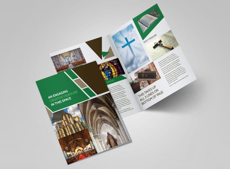 General Church 3 Bi-Fold Brochure Template 2
