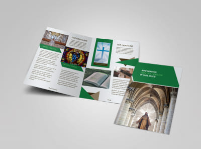 General Church 3 Bi-Fold Brochure Template preview
