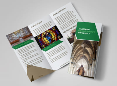 General Church 3 Tri-Fold Brochure Template preview