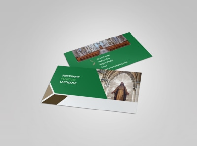 General Church 3 Business Card Template preview