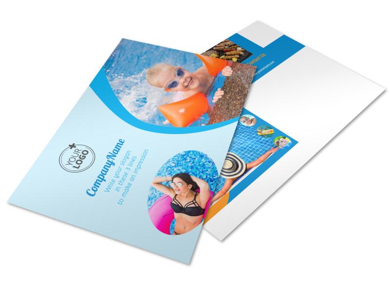 Looks Like Fun Pool Party Postcard Template