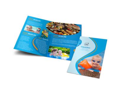 Looks Like Fun Pool Party Bi-Fold Brochure Template preview