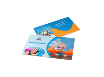 Looks Like Fun Pool Party Business Card Template
