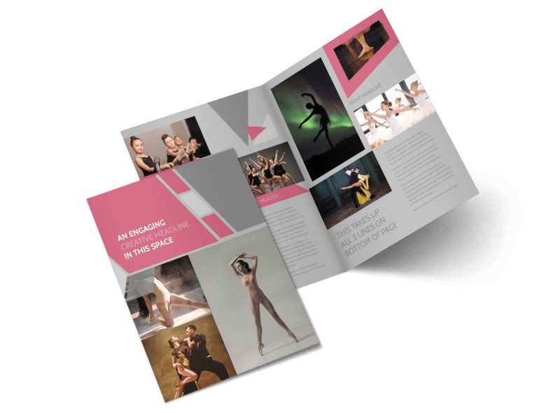 Creative Dance School Bi-Fold Brochure Template 2